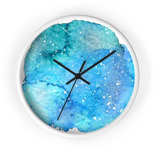 Tide Pool Star Map Personalized Clock