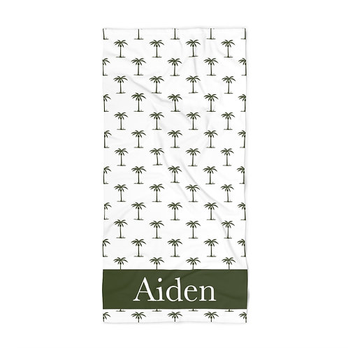 Green Palm Trees Personalized Towel