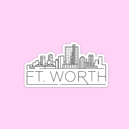 Ft. Worth Skyline Sticker