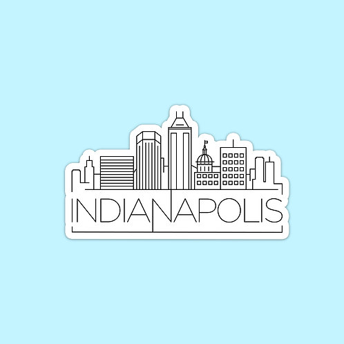 Indianapolis Skyline Sticker