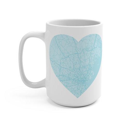 Light Blue Road Map Mug