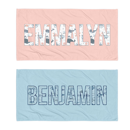 Under the Sea Personalized Towel