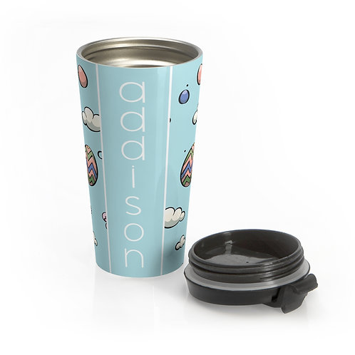 Easter Blue Personalized Travel Mug