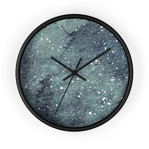 Stormy Indigo Star Map Personalized Clock
