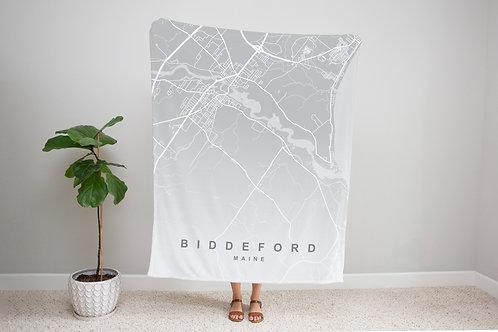 Grey on Grey Custom Map Blanket