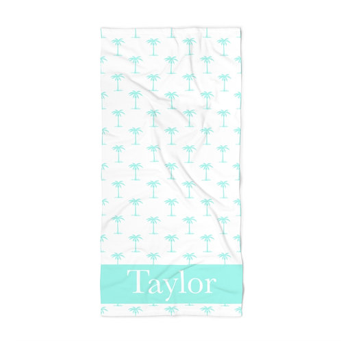 Spindrift Palm Trees Personalized Towel