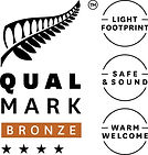 Stacked Qualmark 4 Star Bronze Sustainab