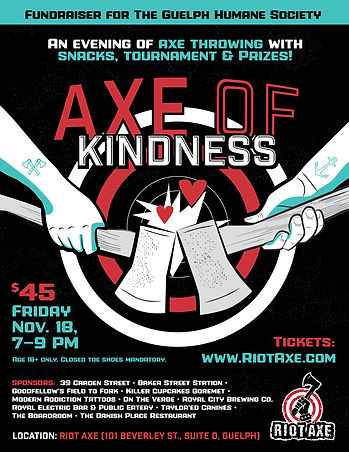 Riot Axe - Axe of Kindness event in support of Guelph Humane Society.