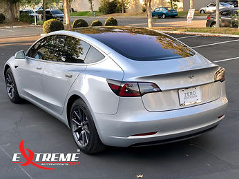 Extreme Autowerks Tesla Model 3 One Piece Rear Glass Tint Prestige Spectra PhotoSync