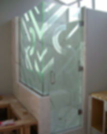 Bathroom Frost Glass Decorative Design Film installed by Extreme Window Film Solutions™