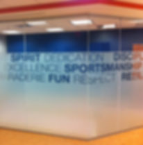 Custom Office Frosted Slogan Decorative Film installed by Extreme Window Film Solutions™