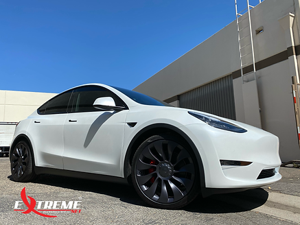 EAW Tesla Model Y Matte Front outside.HE