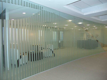 Custom Office Frosted Decorative Film installed by Extreme Window Film Solutions™