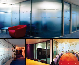 Office Frosted Window Decorative Film installed by Extreme Window Film Solutions™