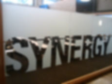 Custom Frost Slogan Decorative Film installed by Extreme Window Film Solutions™