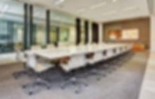 Marble conference table protected by StoneGuard® Stone Surface Protection Film installed by Extreme Window Film Solutions™