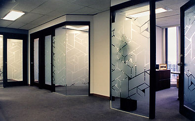 Custom Office Decorative Frost FIlm installed by Extreme Window Film Solutions™