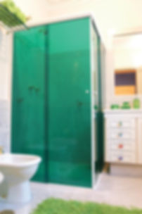 Green Shower Decorative Film. Extreme Window Film Solutions™