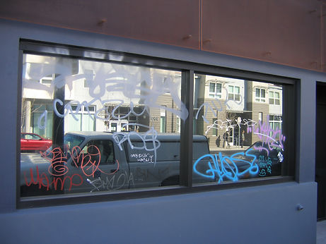 Anti Graffiti Film installed by Extreme Window Film Solutions™