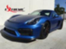 Extreme Autowerks® 2016 Porsche GT4 with LLumar Matte Paint Protection Film