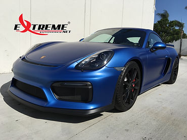 Extreme Autowerks® 2016 Porsche GT4 with LLumar Matte Paint Protection Film