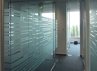 Decorative Frost Film installed by Extreme Window Film Solutions™