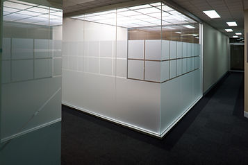 Office Frosted Window Film installed by Extreme Window Film Solutions™