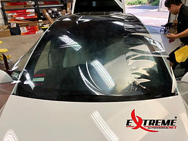 Extreme Autowerks Telsa Model X One Piece Windshield Tint Prestige Spectra PhotoSync