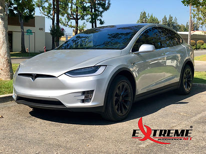 Extreme Autowerks Tesla Model X Prestige Spectra PhotoSync Window Tint and Prestige ClearGuard Nano Paint Protection