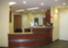 Granite receptionist counter protected by StoneGuard® Stone Surface Protection Film installed by Extreme Window Film Solutions™