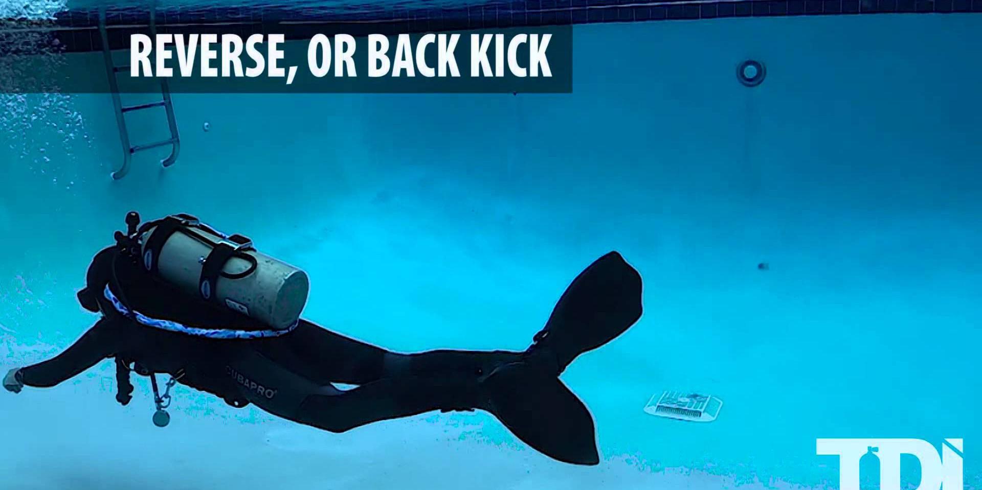 SDI/TDI Scuba Diving Finning Techniques - Reverse/Back Kick