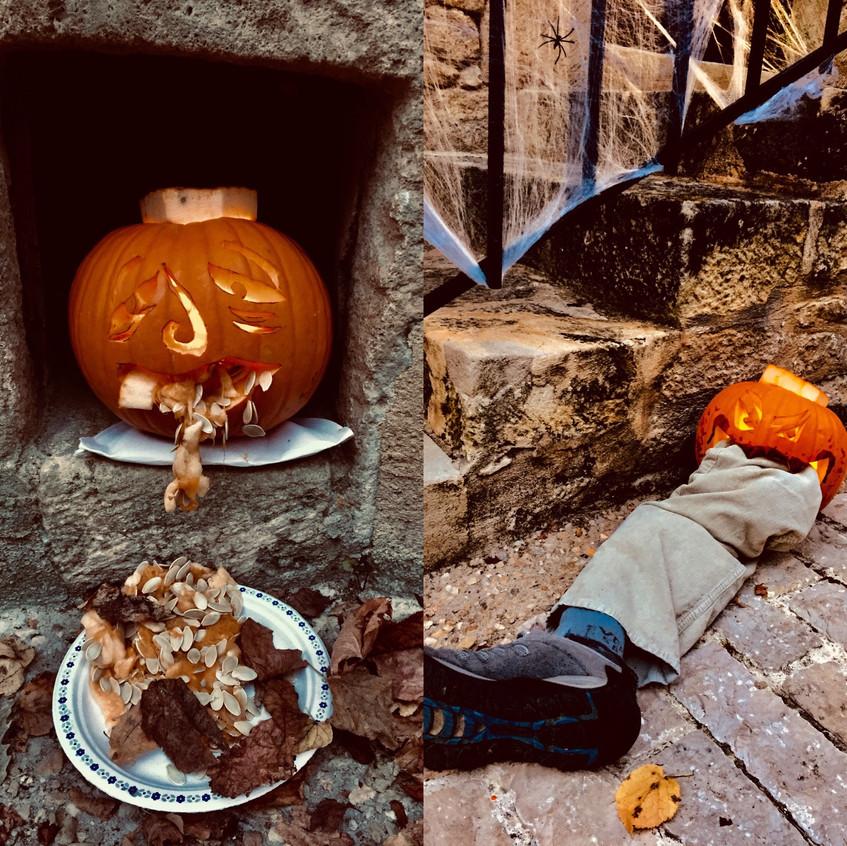Dan's pumpkins carving creation