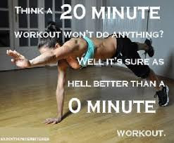 Working Out a Little is Better than Not Working Out at All