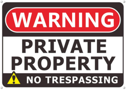 Private Property -- Keep out!