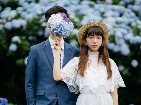 復古婚紗-繡球花