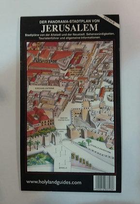 מפה פנורמית של ירושלים - גרמנית