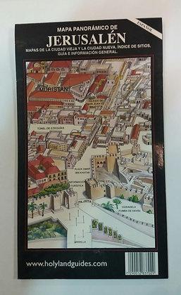 מפה פנורמית של ירושלים - ספרדית