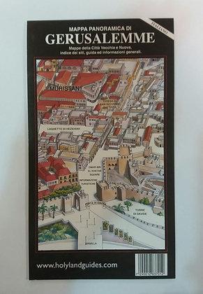 מפה פנורמית של ירושלים - איטלקית