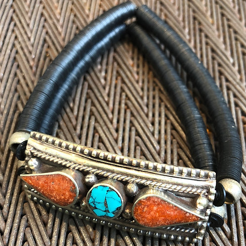 TURQUOISE, CORAL, SILVER, BRASS, VULCANITE