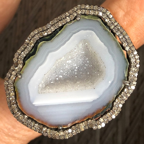 DIAMONDS, GEODE, SILVER