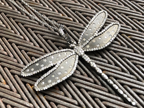 DRAGONFLY DIAMONDS, SILVER necklace