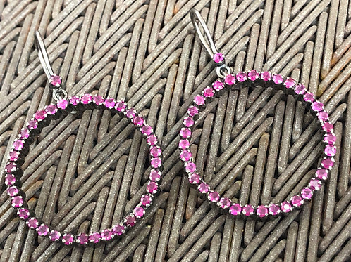 PINK SAPPHIRES, SILVER