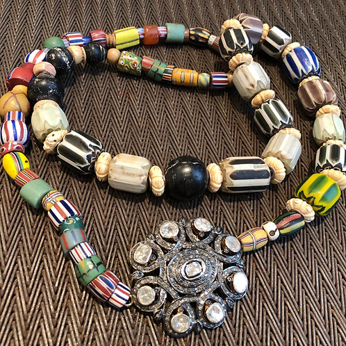 ROSECUT & PAVE DIAMONDS, AFRICAN TRADE BEADS