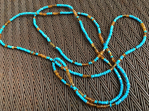 TURQUOISE & SAPPHIRES NECKLACE