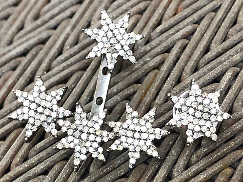Star Diamond silver earring