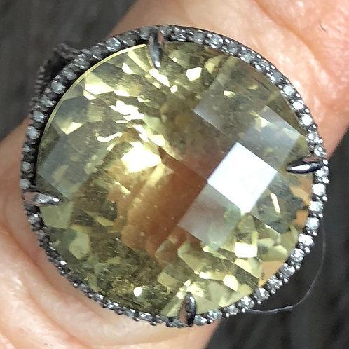 DIAMONDS, CITRINE, SILVER