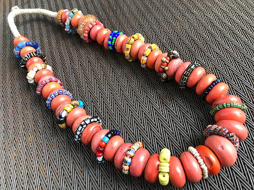 CORAL, AFRICAN TRADE BEADS