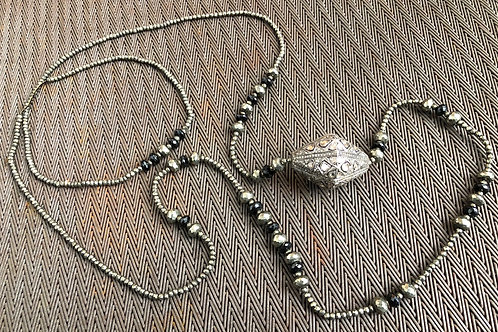 DOUBLE WRAPPED ROSECUT & PAVE DIAMONDS, PYRITE