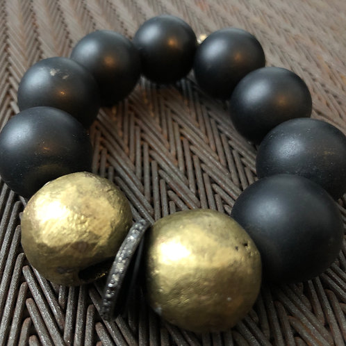 DIAMONDS, ONYX, BRASS