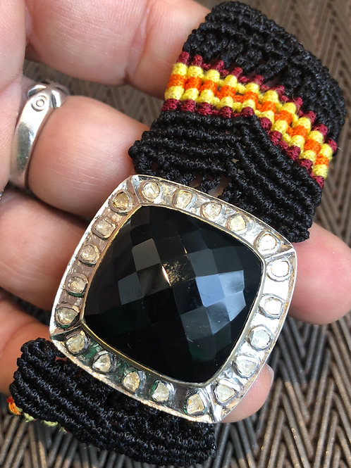 ONYX, DIAMONDS, MACRAME